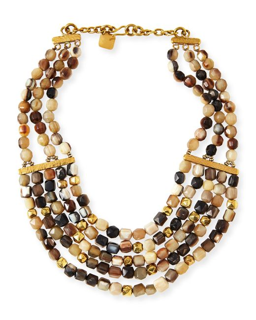 Ashley Pittman | Metallic Kubwa Multi-strand Necklace | Lyst