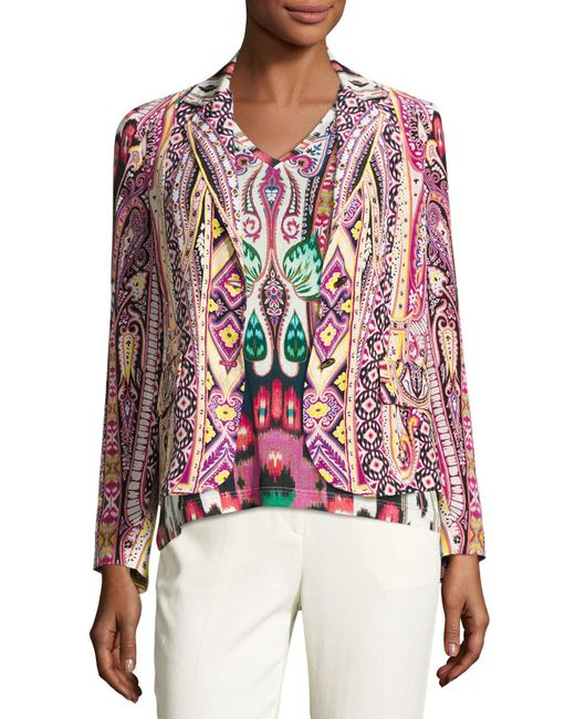 Etro | Multicolor Batik Two-button Short Blazer | Lyst
