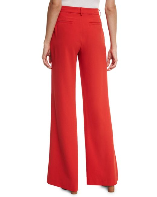 Alice   olivia Paulette High-waist Wide-leg Pants in Red | Lyst