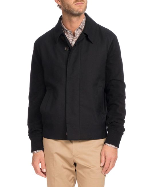 Berluti | Black Suede Trim Blouson Jacket for Men | Lyst