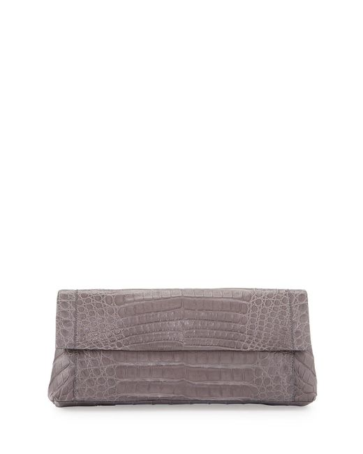 Nancy Gonzalez | Gray Gotham Crocodile Clutch Bag | Lyst