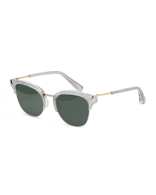 Elizabeth and james Burke Semi-rimless Cat-eye Sunglasses ...