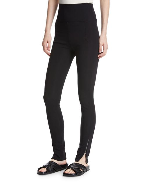 Helmut Lang | Black High-waist Technical Zip Leggings | Lyst