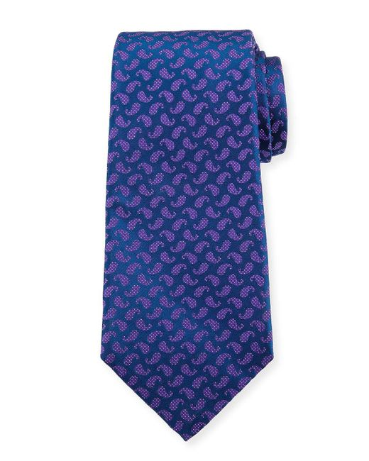 Kiton | Blue Dotted Pines Neat Tie for Men | Lyst