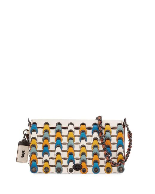 COACH | White Dinky Link Colorblock Crossbody Bag | Lyst