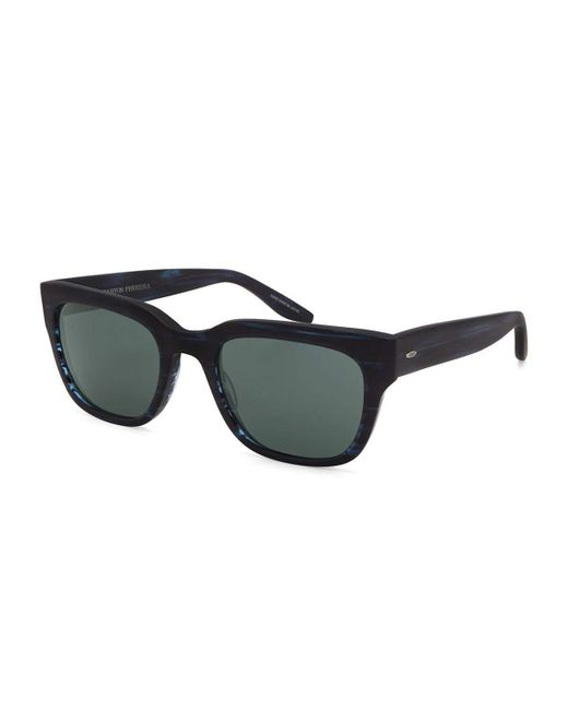 Barton Perreira | Blue Stax Rectangular Acetate Sunglasses | Lyst