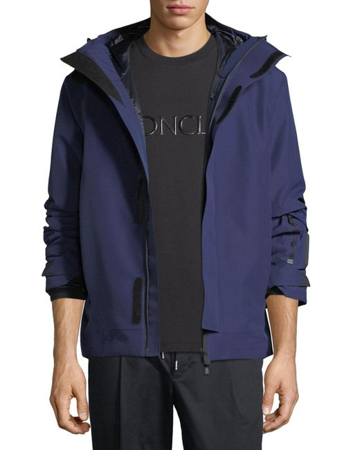 1ebf29aad76b ... buy moncler grenoble blue megeve high performance hooded jacket for men  lyst eae41 c079c