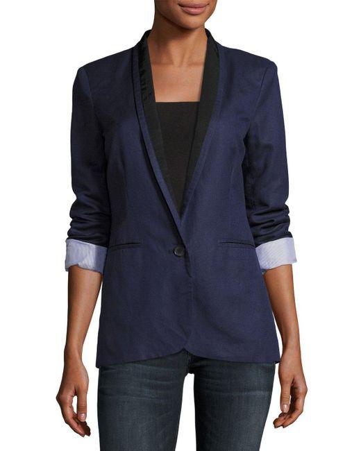 Joie   Blue Amit One-button Jacket   Lyst