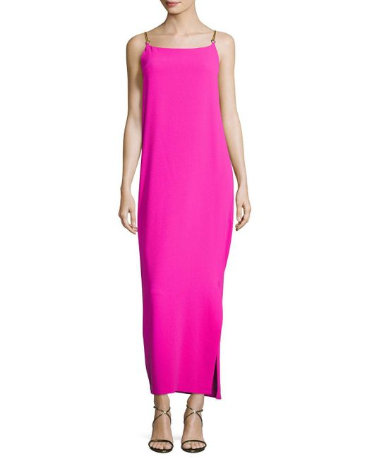 Trina Turk | Pink Benita Sleeveless Cowl-back Column Dress | Lyst