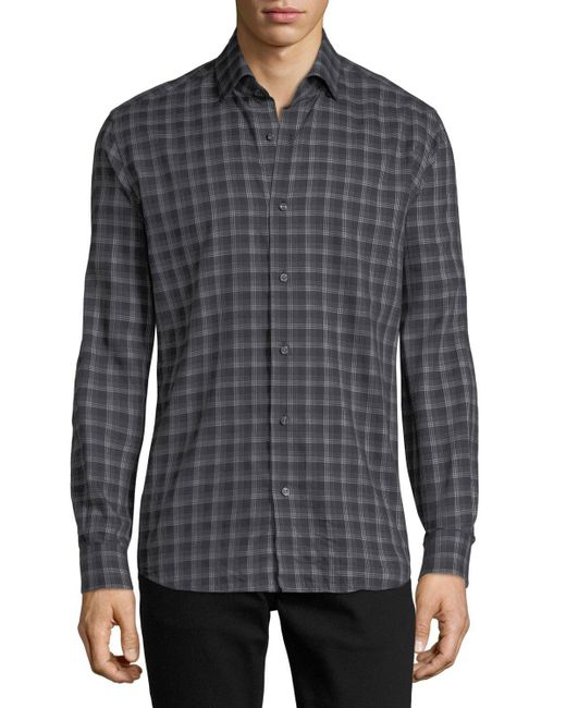Neiman Marcus | Gray Multi-striped Sport Shirt for Men | Lyst