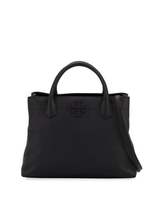 Tory Burch | Black Mcgraw Multi-compartment Satchel Bag | Lyst