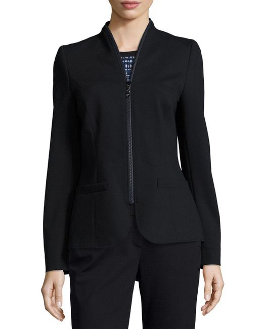 ESCADA | Blue Zip-around Jersey Jacket | Lyst