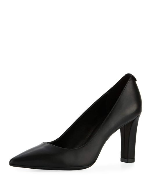 MICHAEL Michael Kors | Black Abbi Smooth Leather Flex Pump | Lyst
