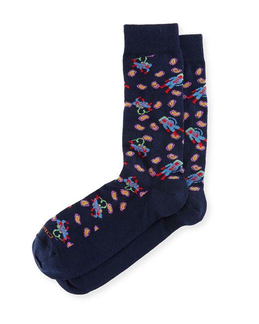 Etro | Blue Astronaut Paisley Socks for Men | Lyst