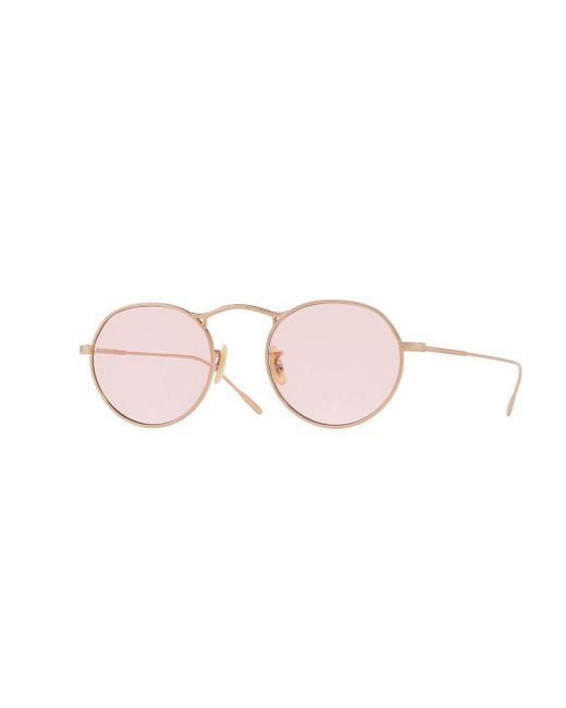 Oliver Peoples | Pink M-4 30th Round Metal Sunglasses | Lyst