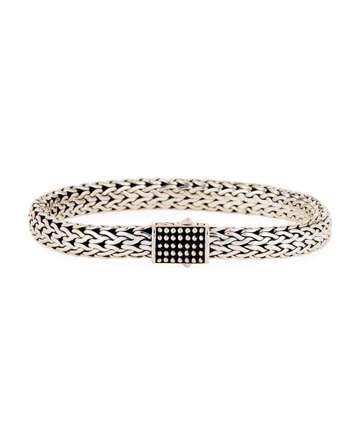 John Hardy | Metallic Men's Classic Chain Silver Jawan Flat Chain Bracelet | Lyst