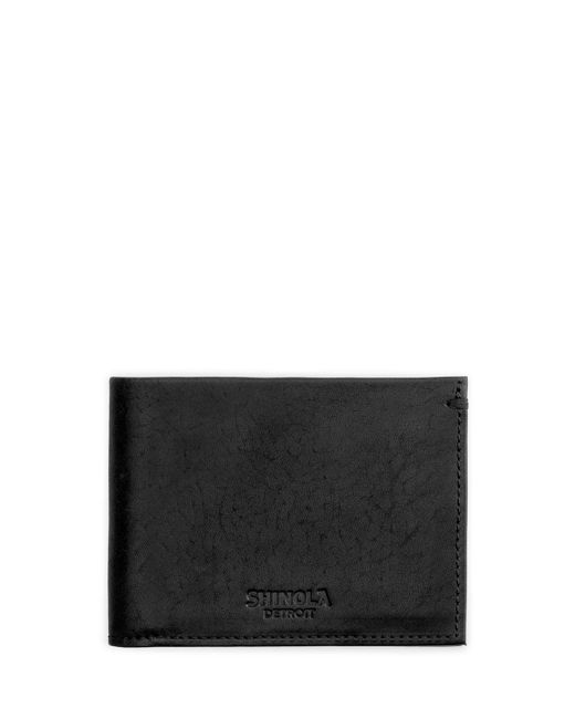 Shinola - Blue Men's Slim Leather Bifold Wallet for Men - Lyst