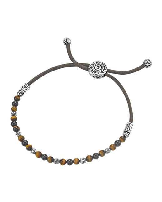 John Hardy | Black Onyx Tigers Eye Bead Brclt for Men | Lyst