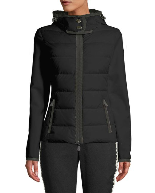 Moncler Grenoble - Black Down-filled & Knit Combo Jacket - Lyst