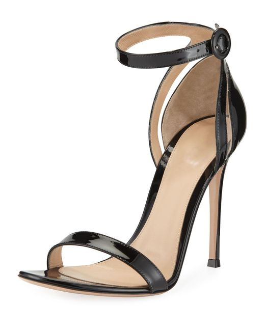 Gianvito Rossi - Black 105mm Patent D'orsay Sandals - Lyst