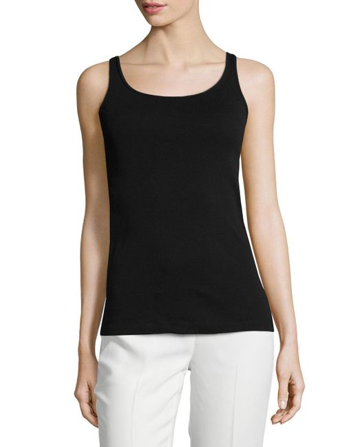 Eileen Fisher - White Organic Cotton Slim Tank - Lyst