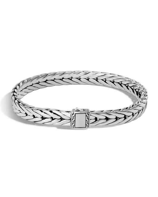 John Hardy - Metallic Men's Small Classic Chain Sterling Silver Cuff Bracelet for Men - Lyst