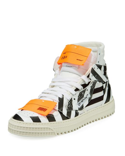 bf32076b50bca3 Lyst - Off-White c/o Virgil Abloh Off Court Leather High-top ...