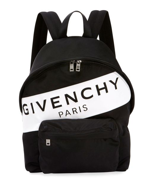 46e153403c Lyst givenchy band logo backpack in black for men save jpg 520x650 Givenchy  backpack men