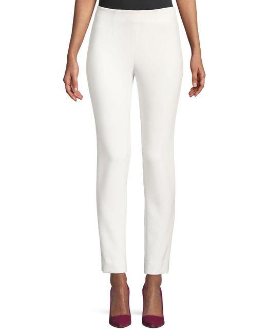 Lela Rose - White Catherine Cropped Pants - Lyst