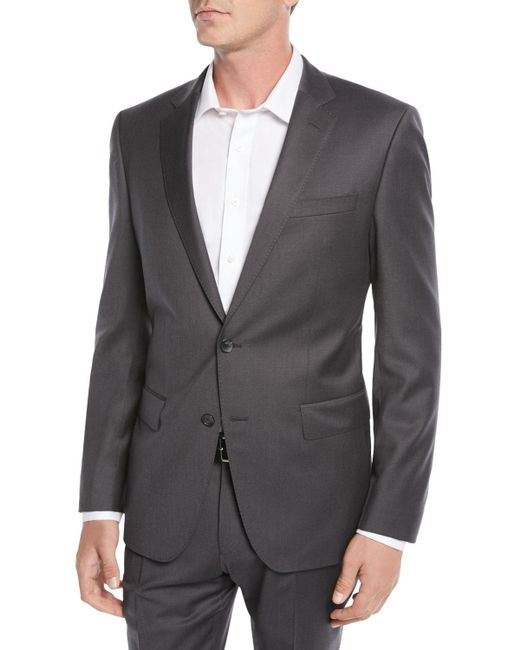BOSS - Men's Stretch-wool Basic Two-piece Suit Gray for Men - Lyst