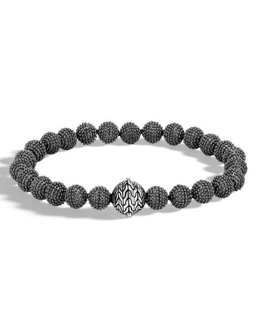John Hardy | Black Men's Classic Chain Medium Jawan Bead Bracelet for Men | Lyst