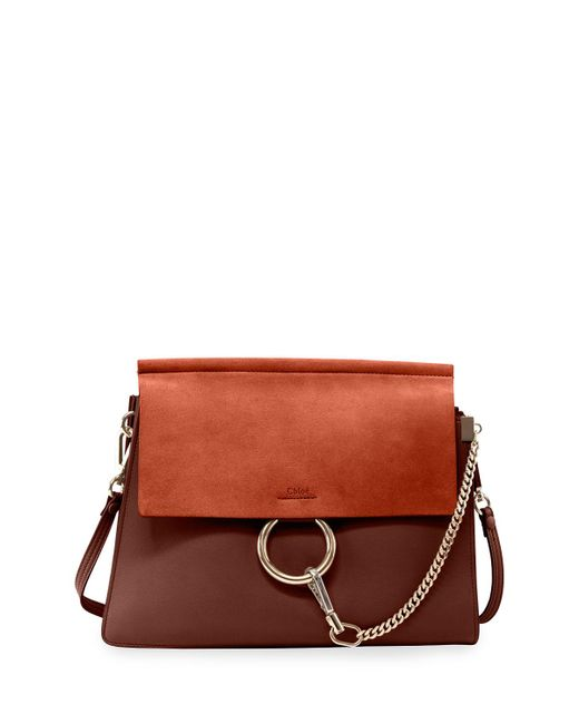 Chloé   Brown Faye Medium Flap Shoulder Bag   Lyst