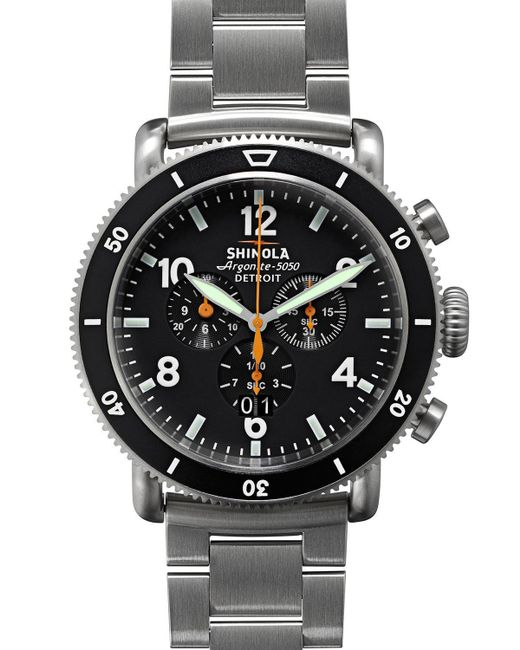 Shinola - Men's 48mm Limited Edition Black Blizzard Watch for Men - Lyst