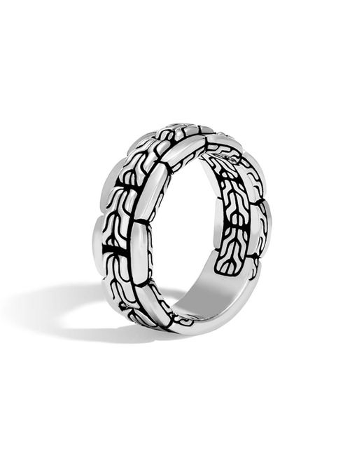 John Hardy - Metallic Sterling Silver Mens Classic Chain Ring for Men - Lyst