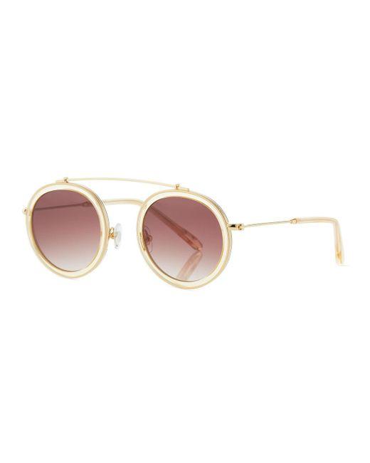 Krewe - Pink Conti Gradient Aviator Sunglasses - Lyst