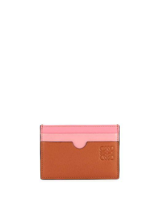 Loewe Pink Rainbow Plain Leather Card Case