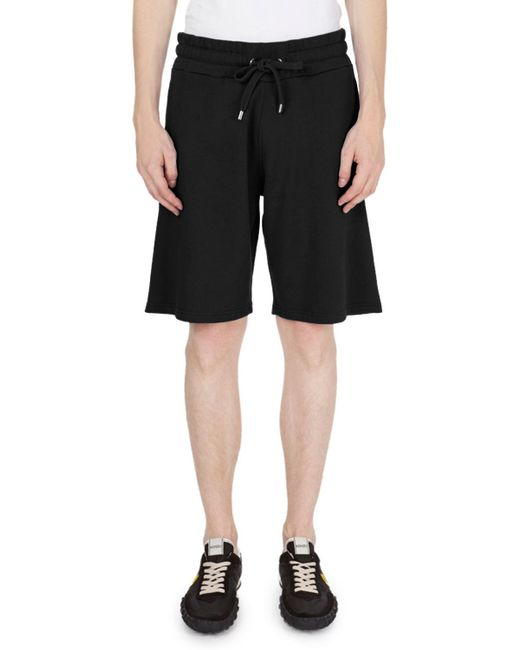 KENZO - Black Logo Drawstring-waist Shorts for Men - Lyst