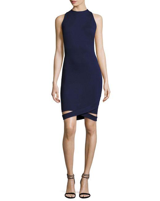 Black Halo | Blue Kaia Sleeveless Knit Dress W/ Cutout Hem | Lyst