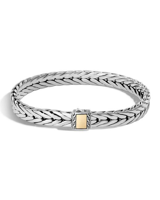 John Hardy | Metallic Men's Classic Chain Small Rectangle Bracelet for Men | Lyst