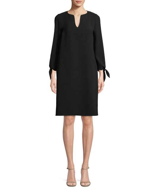 Lafayette 148 New York - Black Khloe Finesse Crepe Shift Dress Plus Size - Lyst