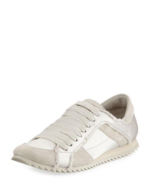 Pedro Garcia - White Cristina Satin Lace-up Trainer Sneakers - Lyst