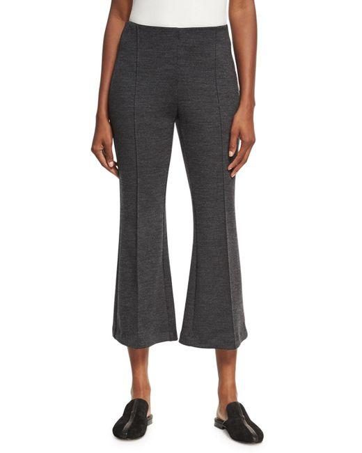 Rosetta Getty | Gray Mélange Wool Flare-leg Pants | Lyst