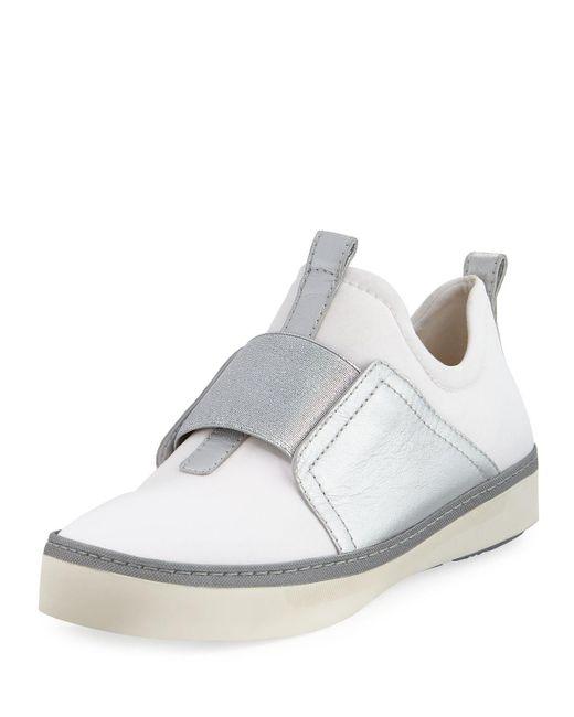 Stuart Weitzman - White Wayfare Neoprene Two-tone Sneakers - Lyst