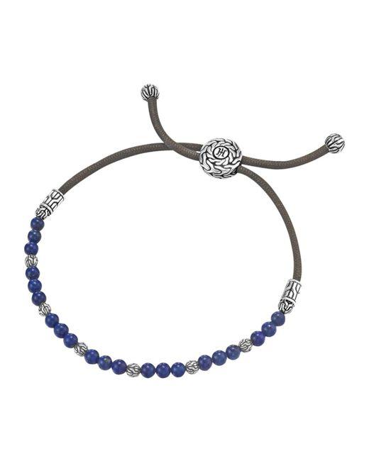 John Hardy | Black Lapis Bead Bracelet for Men | Lyst
