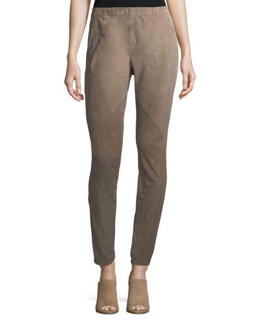 Lafayette 148 New York - Multicolor Suede & Ponte Riding Leggings - Lyst