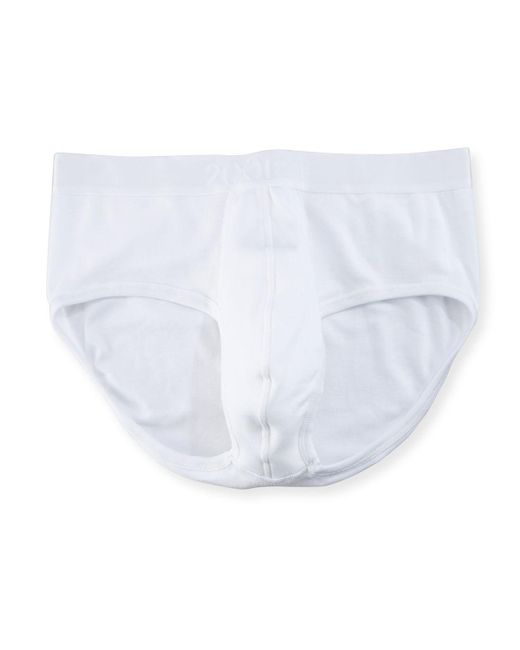 2xist - White Pima Contour Stretch Briefs for Men - Lyst