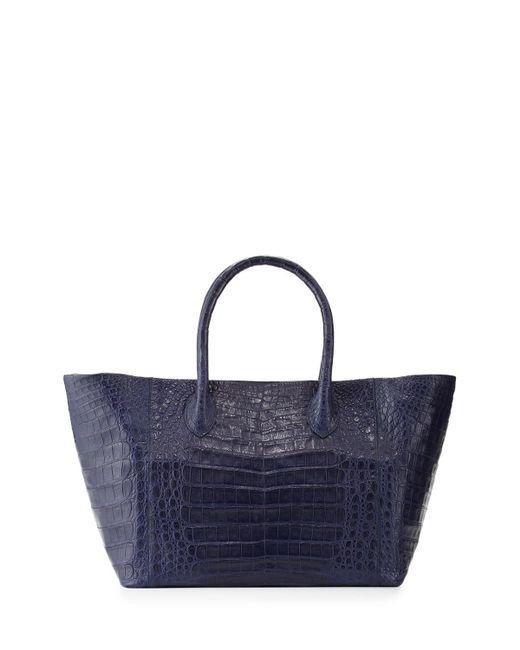 Nancy Gonzalez | Blue Crocodile Small Convertible Tote Bag | Lyst