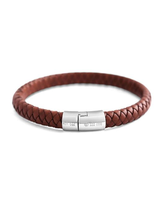 Tateossian | Brown Cobra Men's Braided Leather Bracelet for Men | Lyst