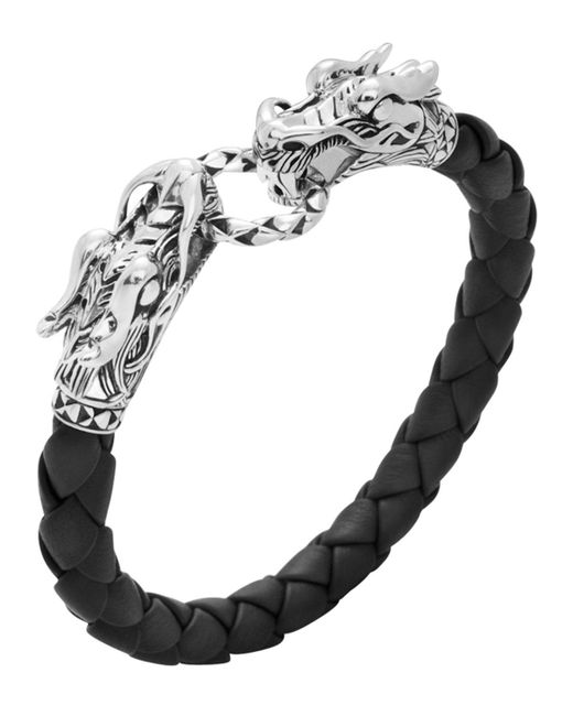 John Hardy - Black Leather Dragon Bracelet - Lyst