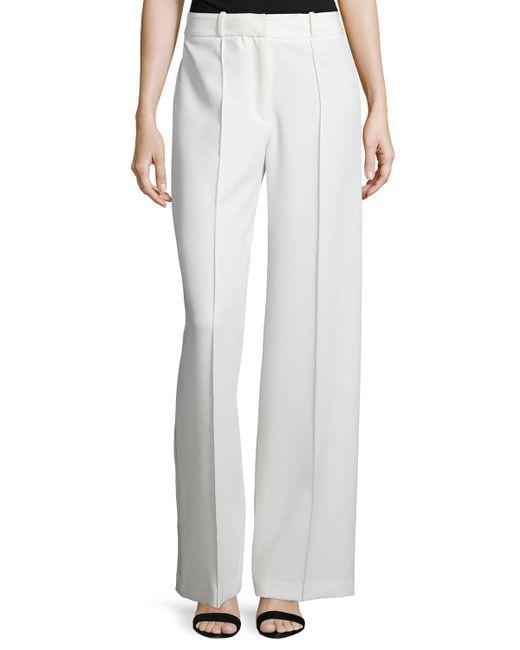 MILLY - White Hayden High-Waist Wide-Leg Pants  - Lyst